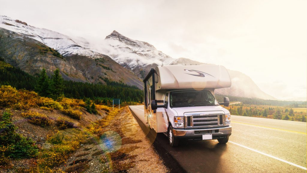 Class C Motorhomes - RVing In The Mountains In Class C Motorhome Landscape