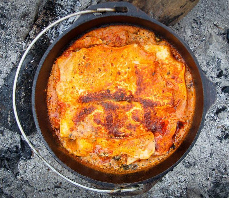 Dutch Oven Campfire Recipes - Lasagna