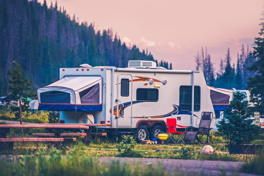 RV Security - Camper Travel Trailer. Travel Trailer Pop Up Style Camping in Colorado.