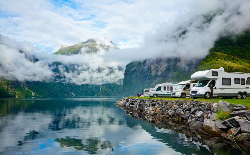 RV myths busted - RV camping by a fjord in Norway
